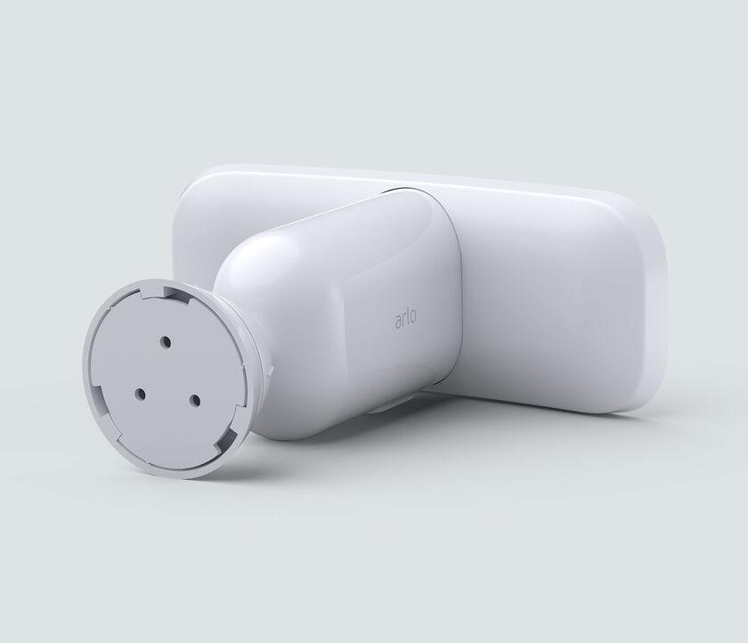 Arlo Pro 3 Floodlight Camera, in white, back