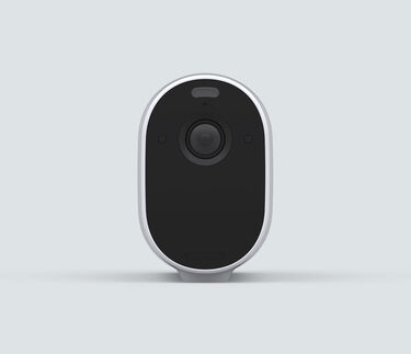 Arlo Essential XL Spotlight, in white, front facing