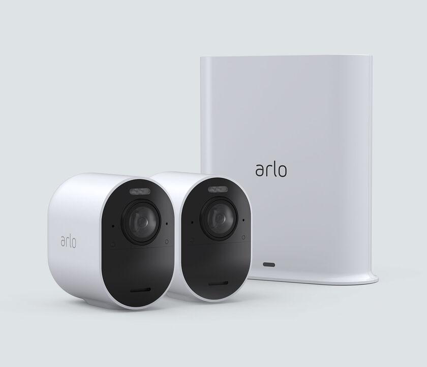 Arlo Ultra 2 Spotlight Camera - 2 Kit, White