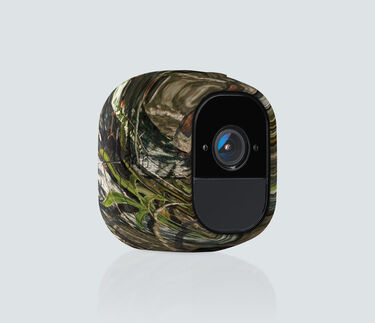 Skin in Camouflage for Arlo Pro and Pro 2, facing right