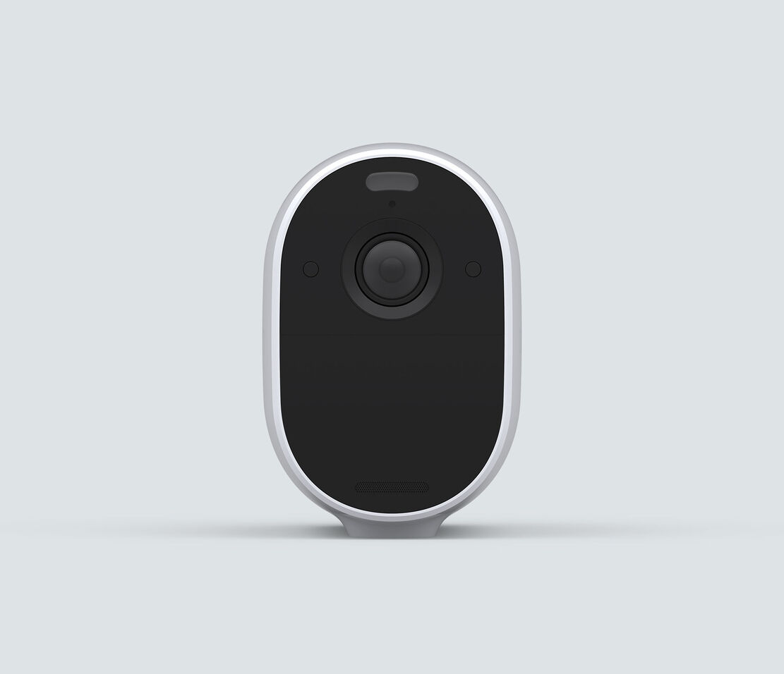 Arlo Essential Spotlight, in white, facing front