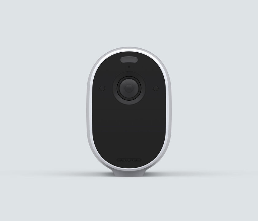 Arlo Essential Spotlight, in white, front facing