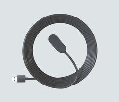8 ft. Indoor Magnetic Charging Cable - Black