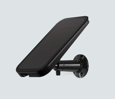 Arlo Solar Panel for Pro and Pro 2 in black facing left