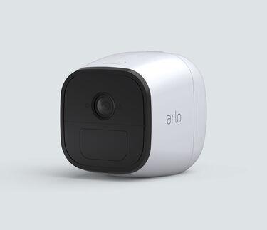 Arlo Go Camera, in white, facing left