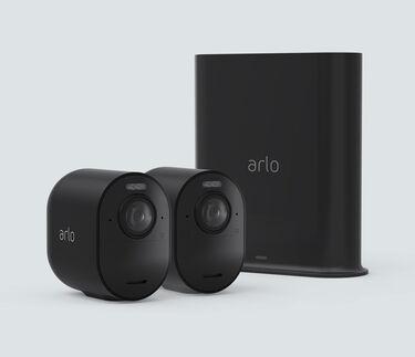 Arlo Ultra 2 Spotlight Camera - 2 Kit, Black