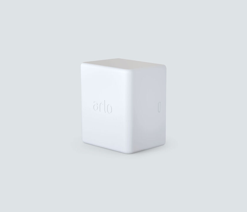 Arlo Rechargeable Battery, in white, facing left