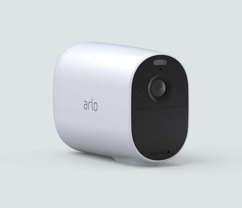 Arlo Essential XL Spotlight, in white, facing right