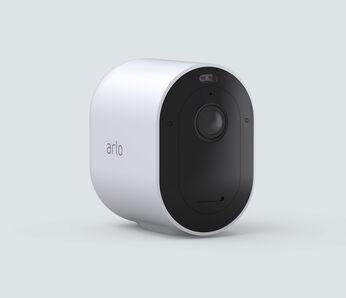 Arlo Pro 4 Spotlight Camera, in white, facing right