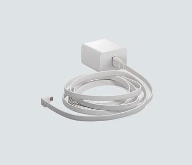 Indoor Power Adapter, in white
