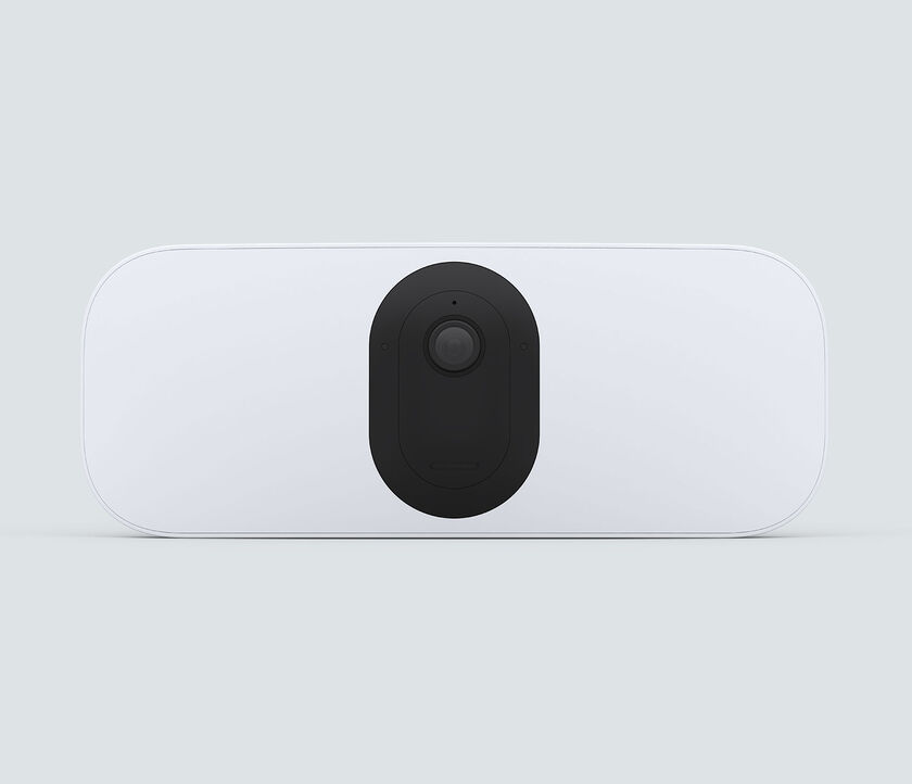 Arlo Pro 3 Floodlight Camera, in white, facing front