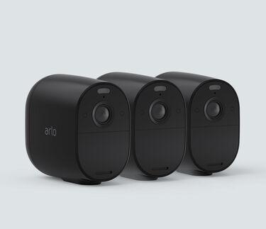 Arlo Essential Spotlight Camera 3, Cam Kit - Black