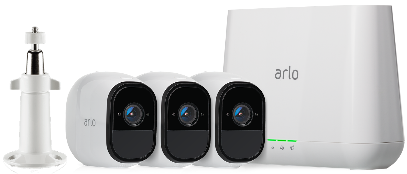 Arlo Pro Smart Security System with 3 Cameras  (AVM4000C)