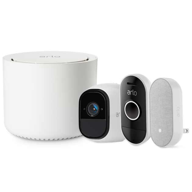 Arlo Pro - 1 Camera Kit with Audio Doorbell & Chime (VMK4151)