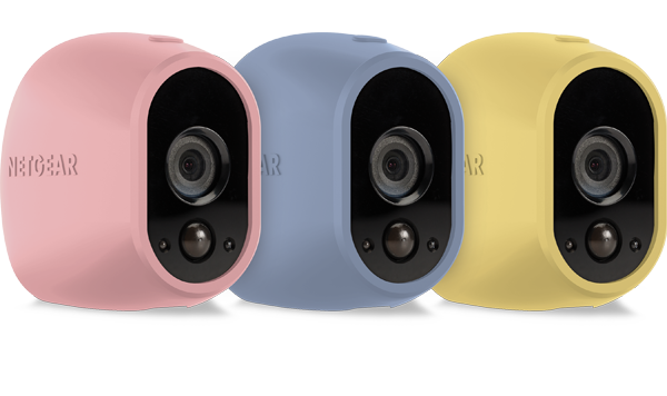 Set of 3 Skins in Pink, Blue, Yellow for Arlo Camera (VMA1200C)