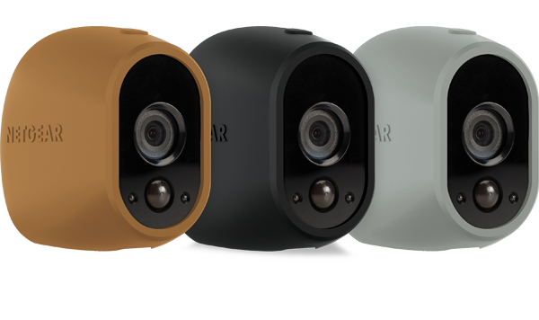 Set of 3 Skins in Brown, Black, Grey for Arlo Camera (VMA1200D)