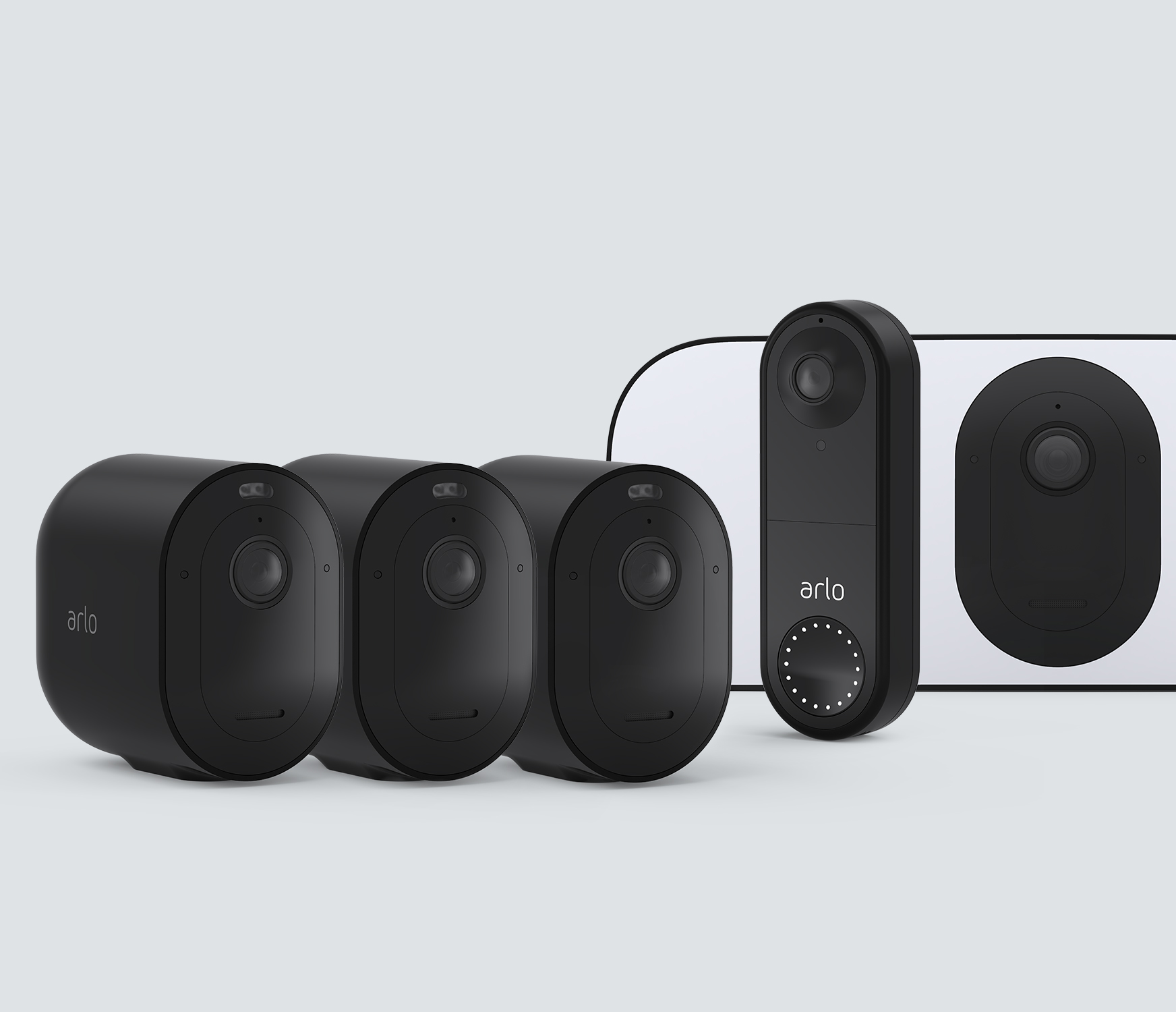 The Wired Doorbell Mid to Large Home Bundle - Black