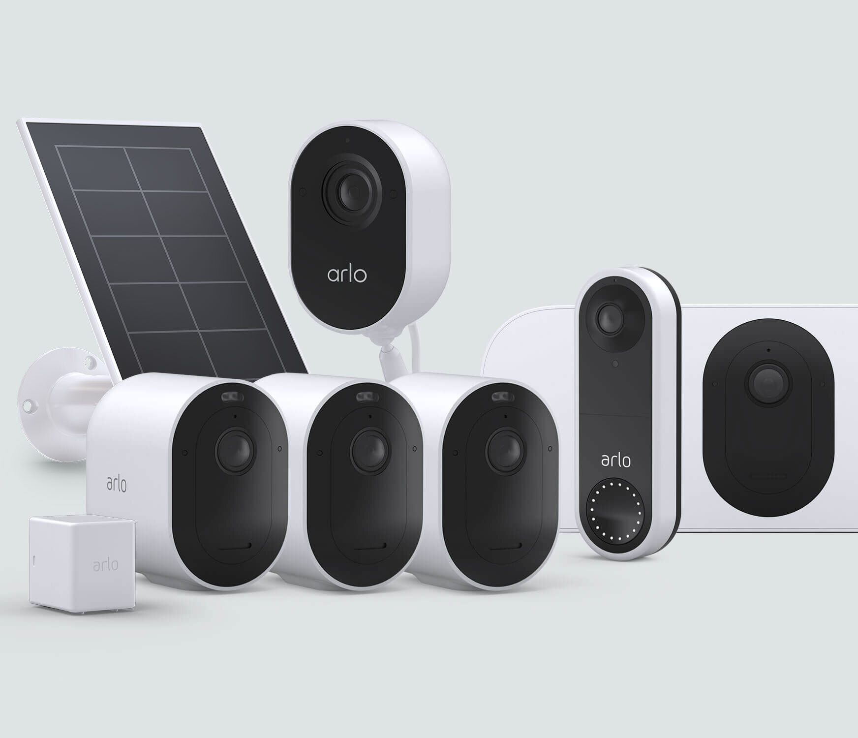 The Complete Protection Bundle with Wired Doorbell - White
