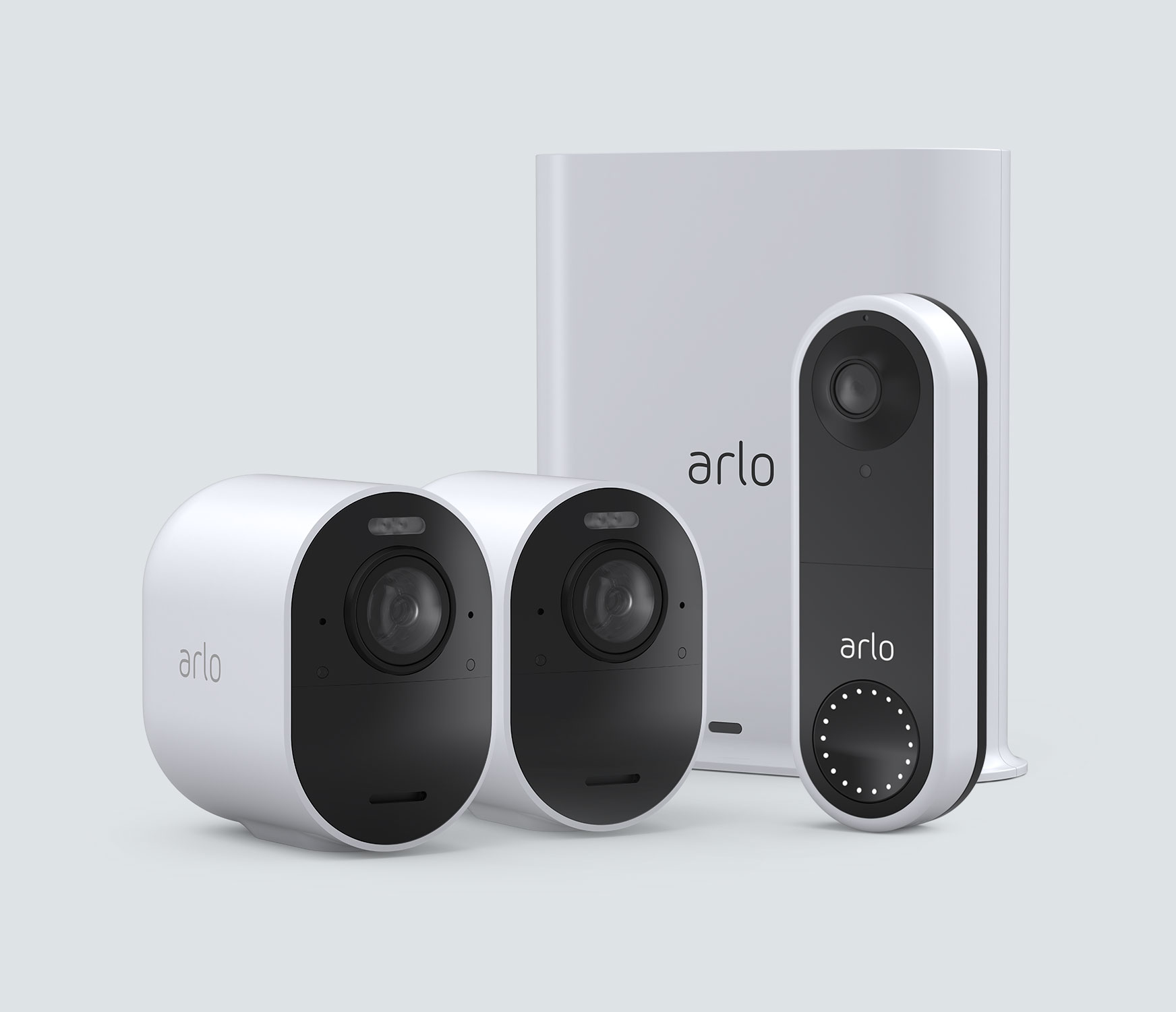 The Wired Doorbell + 4K Camera Bundle - White