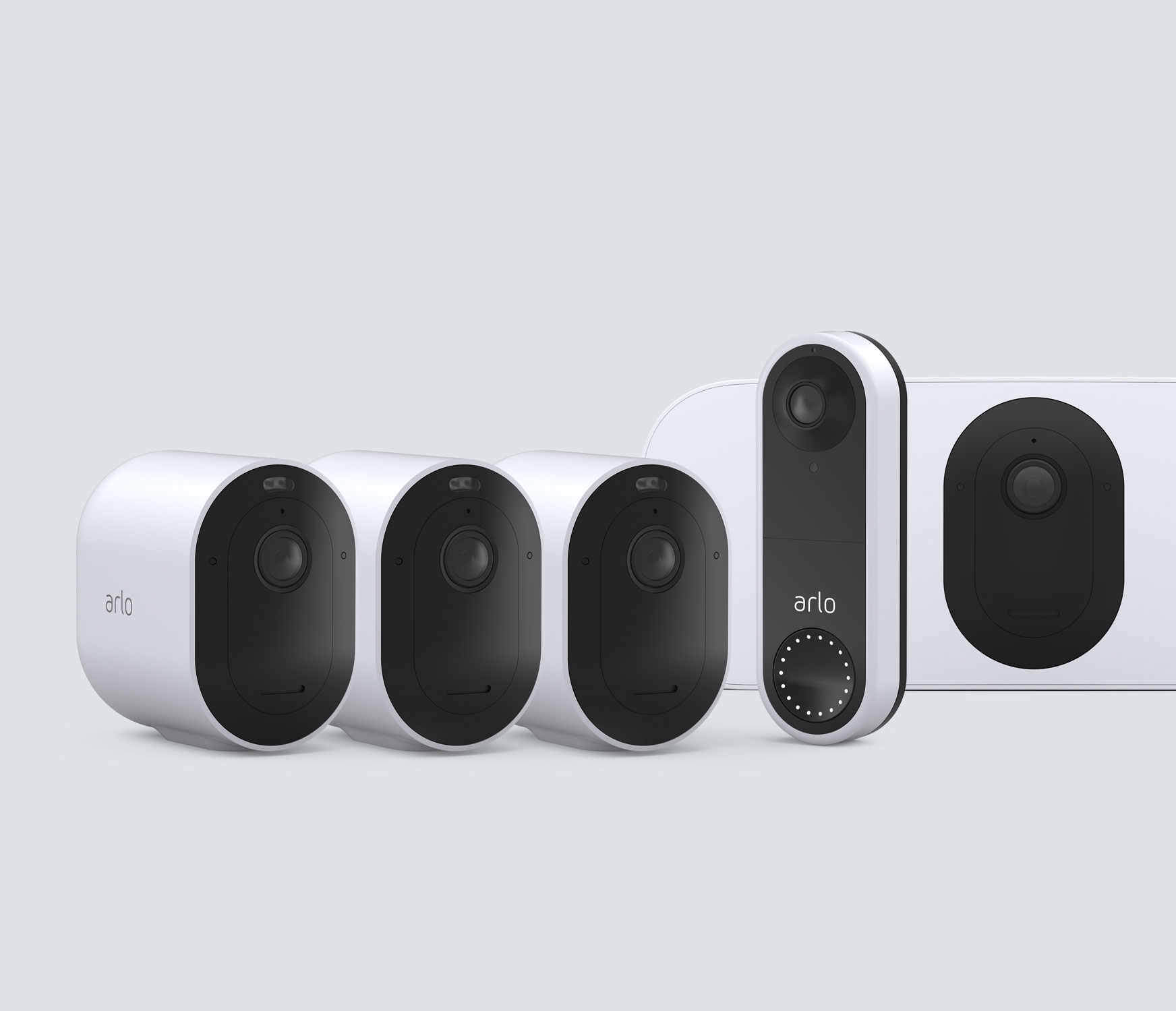 The Wired Doorbell Mid to Large Home Bundle - White