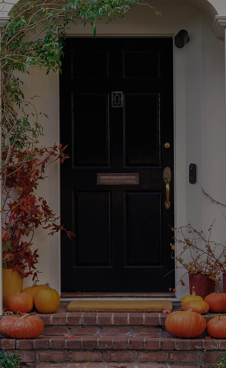 Front door with the Arlo Pro 4 camera and video doorbell