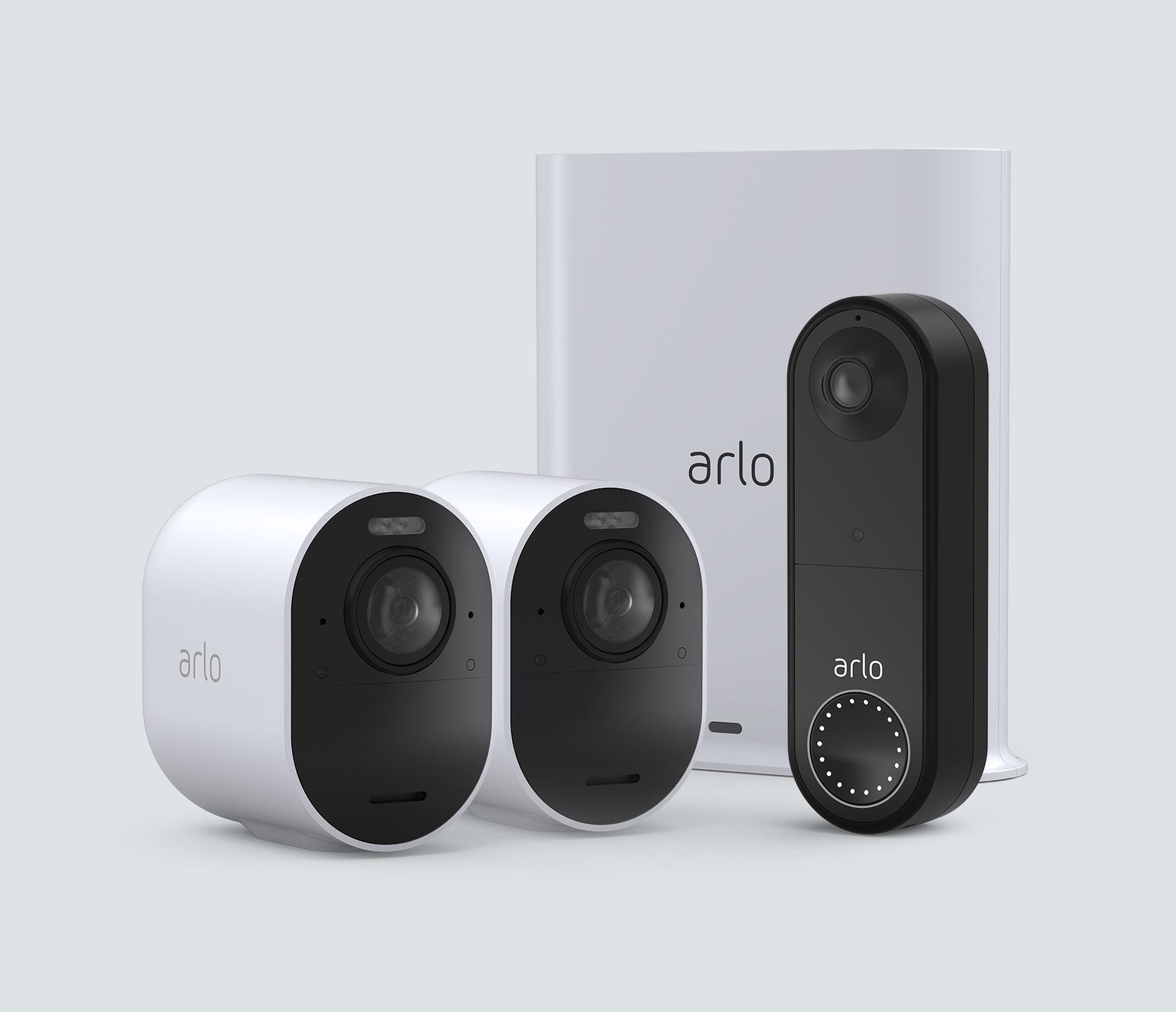 The Wireless Doorbell + 4K Camera Bundle - White