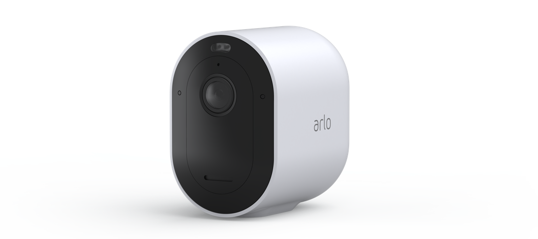 Arlo camera animation with pulsing siren waves